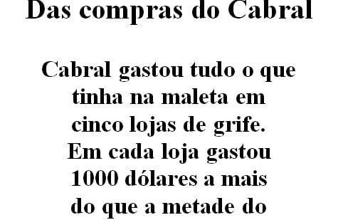 Quanto o Cabral tinha na maleta?