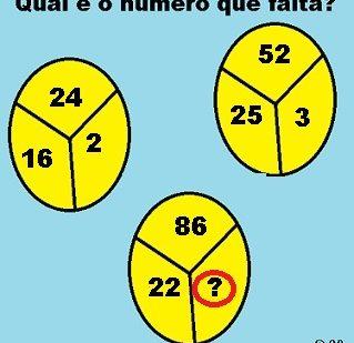 Qual é o número que falta?